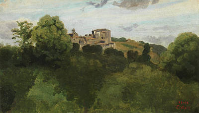 Corot Painting - View Of Genzano by Camille Corot