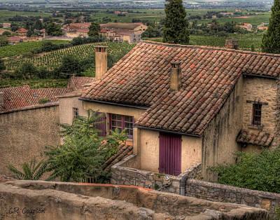 Photograph - View Of Gigondas by CR  Courson