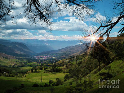 Photograph - View Of Giron Valley From Portete IIi by Al Bourassa