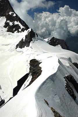 Jungfraujoch Photograph - View Of Glacier From The Jungfraujoch by Anne Keiser