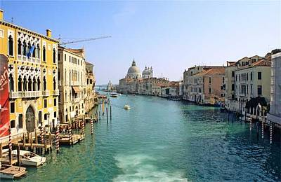 View Of Grand Canal In Venice From Accadamia Bridge Art Print by Michael Henderson