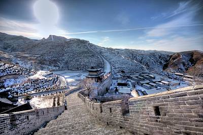 Great Wall Photograph - View Of Great Wall by Photograph by Sunny Ip.