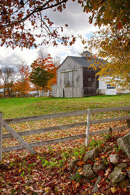 Photograph - View Of Grey Barn Over The Rocks by Jeff Folger