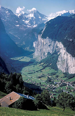 View Of Gruenwald In Switzerland Art Print by Carl Purcell