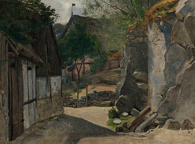 Painting - View Of Gudhjem by Otto Haslund
