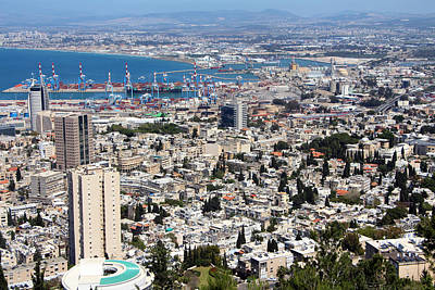 Photograph - View Of Haifa by Munir Alawi