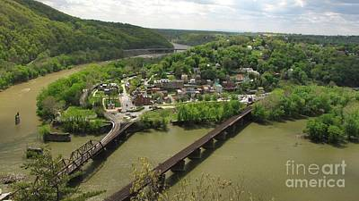 View Of Harpers Ferry From Maryland Heights Overlook Art Print