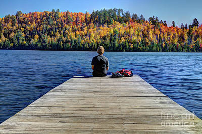 View Of Heaven Mic Mac Lake Tettegouche State Park Minnesota Art Print