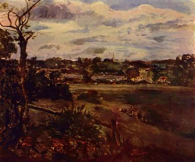 Painting - View Of Highgate From Hampstead Heath by Constable John