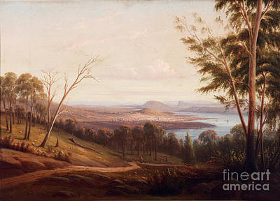 Knut Painting - View Of Hobart Town by Celestial Images