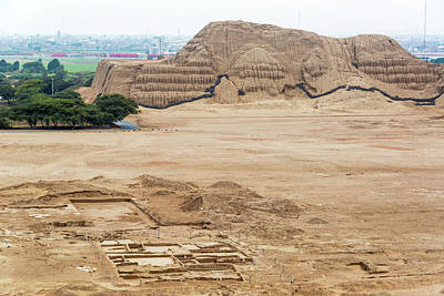 Mochica Photograph - View Of Huaca Del Sol by Jess Kraft