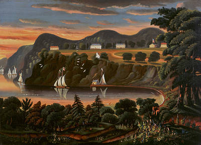 View Of Hudson River At West Point Art Print