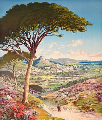View Of Hyeres, France, 1900 Art Print by Hugo dAlesi