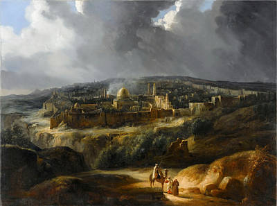 Jerusalem Painting - View Of Jerusalem From The Valley Of Josaphat by Celestial Images