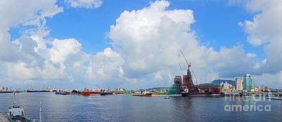 Photograph - View Of Kaohsiung Port And Bay by Yali Shi