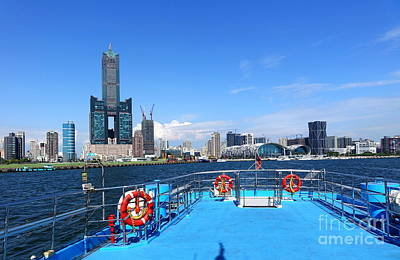 Photograph - View Of Kaohsiung Waterfront by Yali Shi