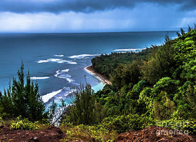Photograph - View Of Kee Beach From Na Pali Trail by Blake Webster