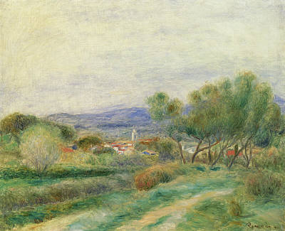 Hamlet Painting - View Of La Seyne by Pierre Auguste Renoir