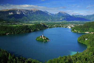 Photograph - View Of Lake Bled From Mala Osojnica by Ian Middleton