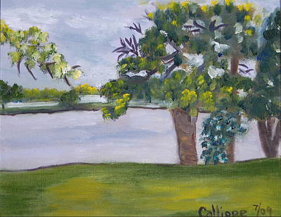 Painting - View Of Lake Fowler by Calliope Thomas