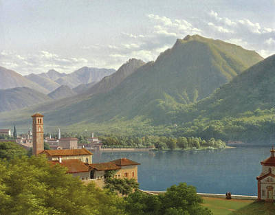 View Of Lake Lugano Art Print by Lancelot-Theodore Turpin de Crisse