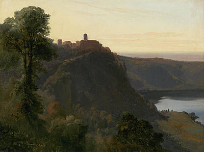 Painting - View Of Lake Nemi by Jules Coignet