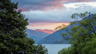Photograph - View Of Lake Wakatipu New Zealand by Joan Carroll