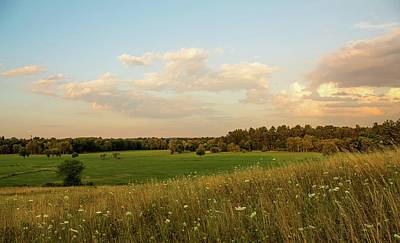 Photograph - View Of Lancaster Ma Farmland From Dexter Drumlin 2 by Michael Saunders