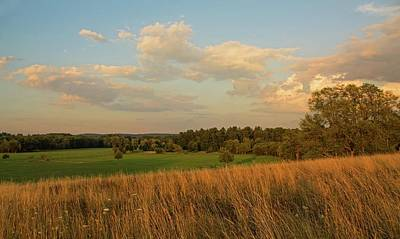 Photograph - View Of Lancaster Ma Farmland From Dexter Drumlin by Michael Saunders