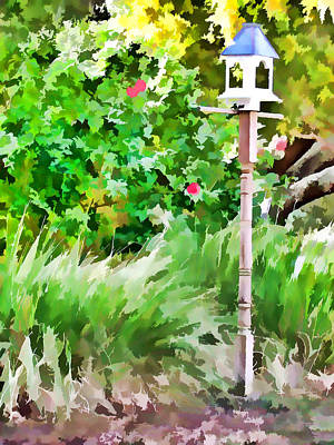 Swansboro Painting - View Of Landscaped Backyard Of Home by Lanjee Chee