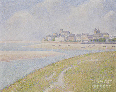 Painting - View Of Le Crotoy, From Upstream, 1889  by Georges Pierre Seurat