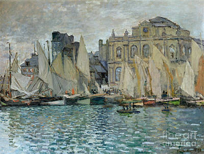 Cloudy Painting - View Of Le Havre by Claude Monet