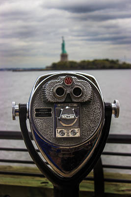 Viewfinder Photograph - View Of Liberty Island by Martin Newman