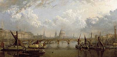 St Pauls London Painting - View Of London  by John MacVicar Anderson
