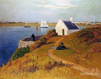 Harbour Painting - View Of Lorient In Brittany by Henry Moret