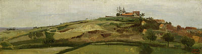 Realist Painting - View Of Lormes by Camille Corot