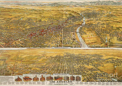Photograph - View Of Los Angeles, 1894 by Granger