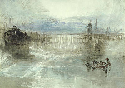 Swiss Drawing - View Of Lucerne by Joseph Mallord William Turner