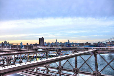 View Of Manhattan From The Brooklyn Bridge Original by Randy Aveille