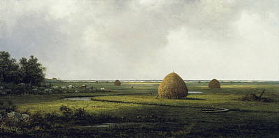 Famous Fish Abstract Painting - View Of Marshfield by Martin Johnson Heade