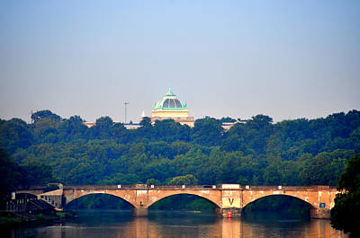 View Of Memorial Hall From The Schuylkill River Art Print by Bill Cannon