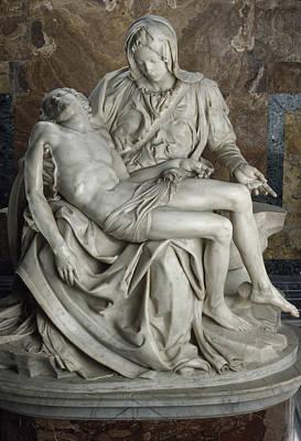 Christ Photograph - View Of Michelangelos Famous Sculpture by James L. Stanfield