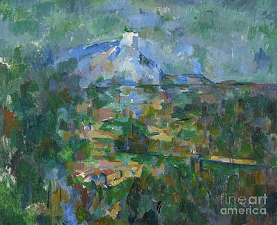 Victoire Painting - View Of Montagne Sainte Victoire From Lauves by Paul Cezanne