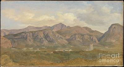 Villa Painting - View Of Monte Sant'angelo From The Villa Auriemma Near Sorrento by Celestial Images