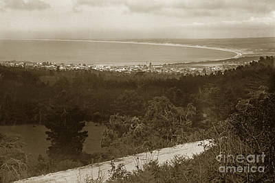 Photograph - View Of Monterey Bay From Artist Point On Carmel Hill Circa 1910 by California Views Mr Pat Hathaway Archives
