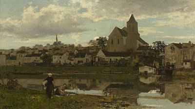 Loing Painting - View Of Montigny-sur-loing by Jacob Maris