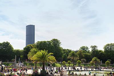 Digital Art - View Of Montparnasse Tower In Paris by Carol Ailles