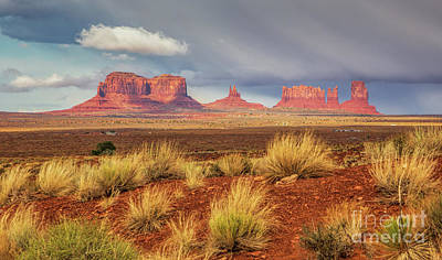 Photograph - View Of Monument Valley by Mimi Ditchie