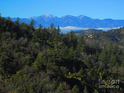 Photograph - View Of Mount Baldy From The San Bernardino Mountains by Julia Hanna