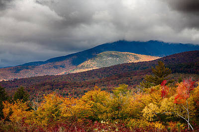 View Of Mount Chocorua In Fall Foliage Art Print by Jeff Folger